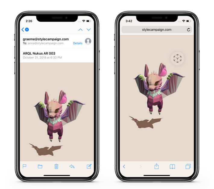 AR Quick Look in HTML email