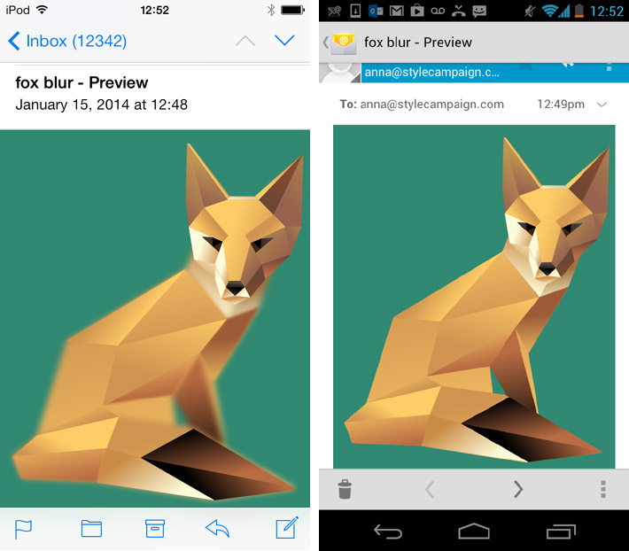 SVG blur filter in email