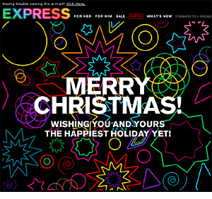 Express holiday animated email