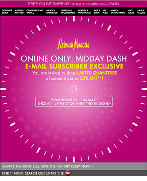 Neiman Marcus animated email