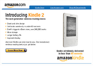 Amazon kindle animated email