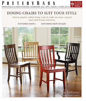 Pottery Barn animated email
