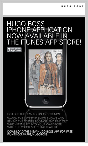 Hugo Boss iPhone animated email