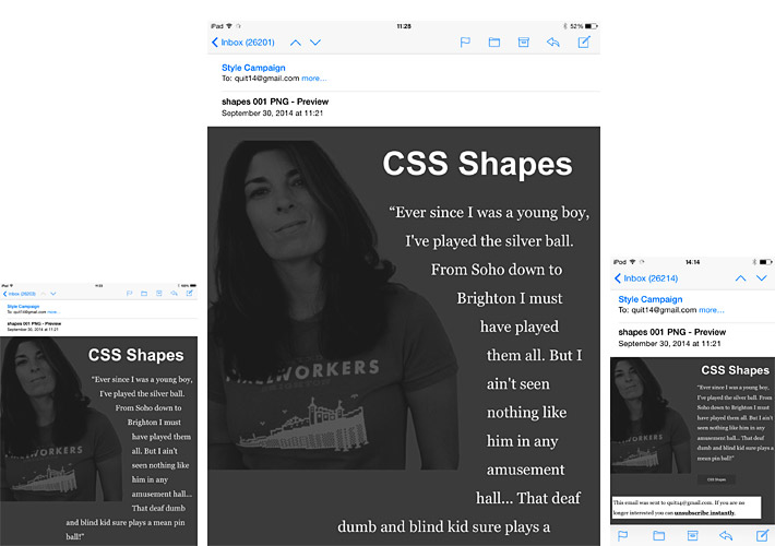 css shapes in email