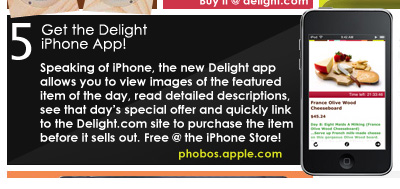 Promoted iPhone app in email