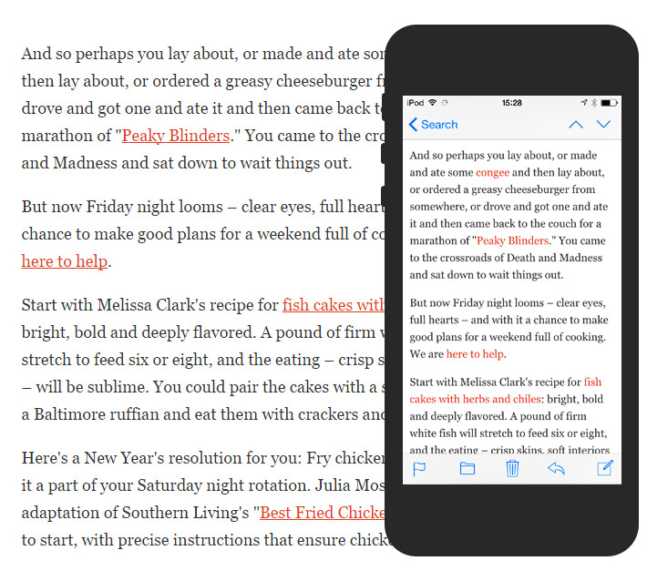 Mobile body copy from the web