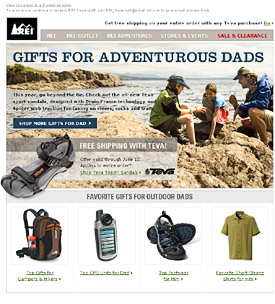 REI Father's Day email