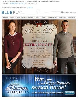 Holiday email marketing 2007