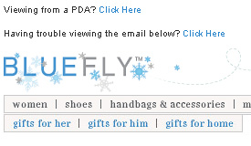 Holiday 2008 email header