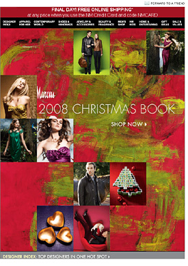 2008 Neiman Marcus Christmas book email