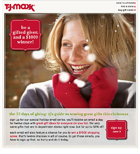T.J. Maxx 12 days of Christmas campaign