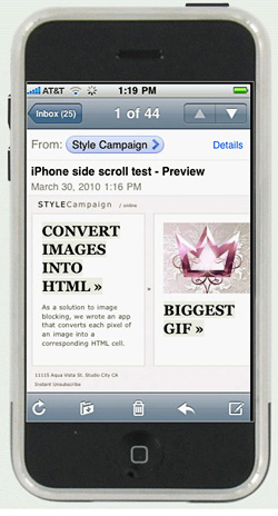 View iPhone email