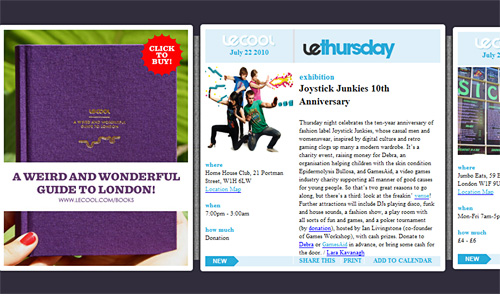 View LeCool side scrolling email