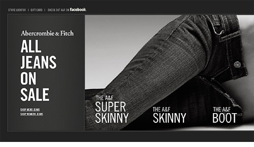 View A&F side scrolling email