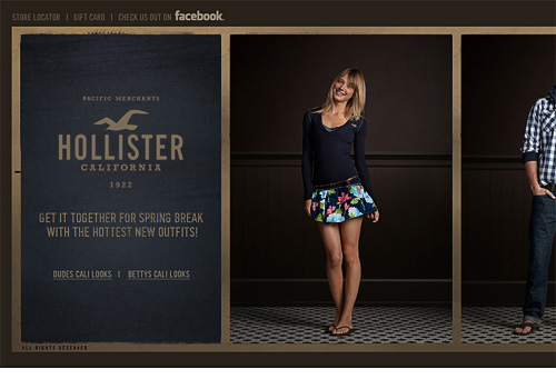 View Holister horizontal email
