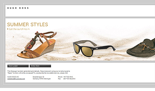 View Hugo Boss side scrolling email