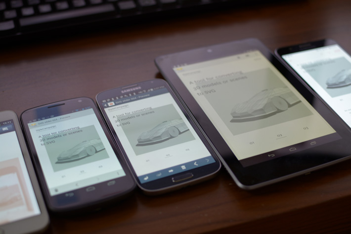 More recent native Samsung versions get the full interactive SVG