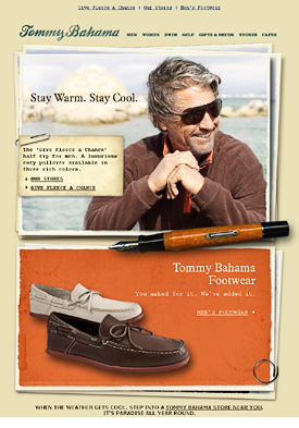 Tommy Bahama's newsletter