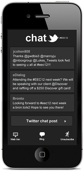 Live Twitter chat in email
