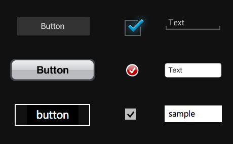Sampling of UI elements from Android, iOS and Windows Phone 7. 
