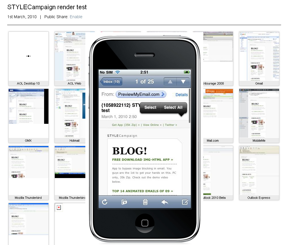 STYLECampaign iPhone & mobile Top 10 email preview test tools ...