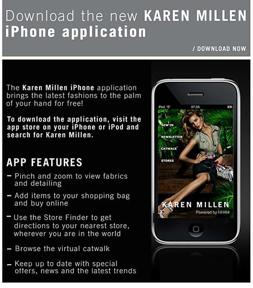 Karen Millen iPhone email