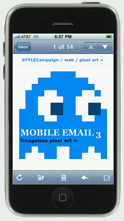 PacMan pixel art email