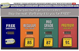 Gas prices in retail email