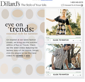 Dillards Video Email