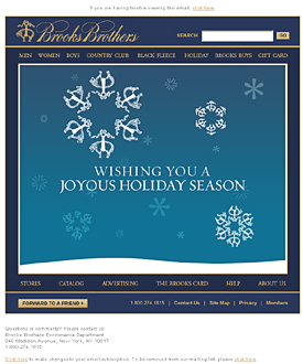 Clcik to view retailer holiday e-card