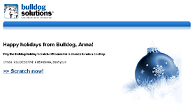 b2b holiday e-card