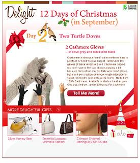 Holiday 2008 email marketing