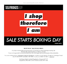 Boxing day sale animated email