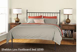 sheldon low footboard bed