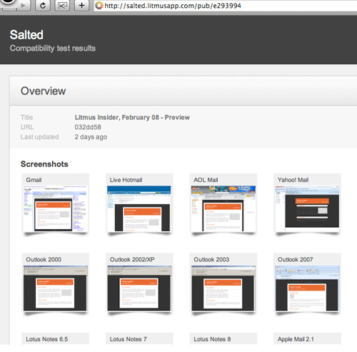 Litmus email testing tool
